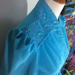 Vintage Intimates & Sleepwear - Vintage Blue Princess Bathrobe